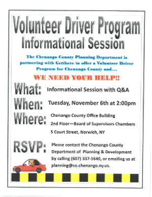 Volunteer Driving Image