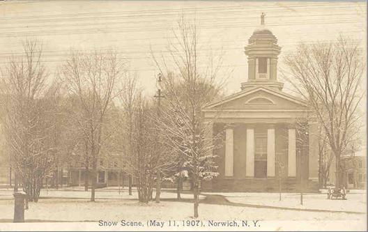 Snow Scene - Norwich, NY