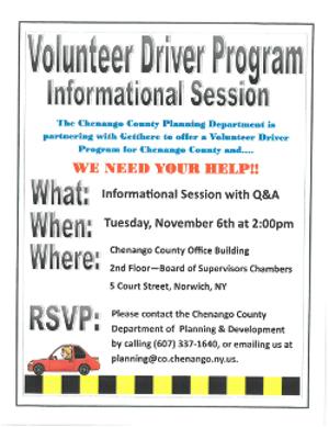 Volunteer Driving Image