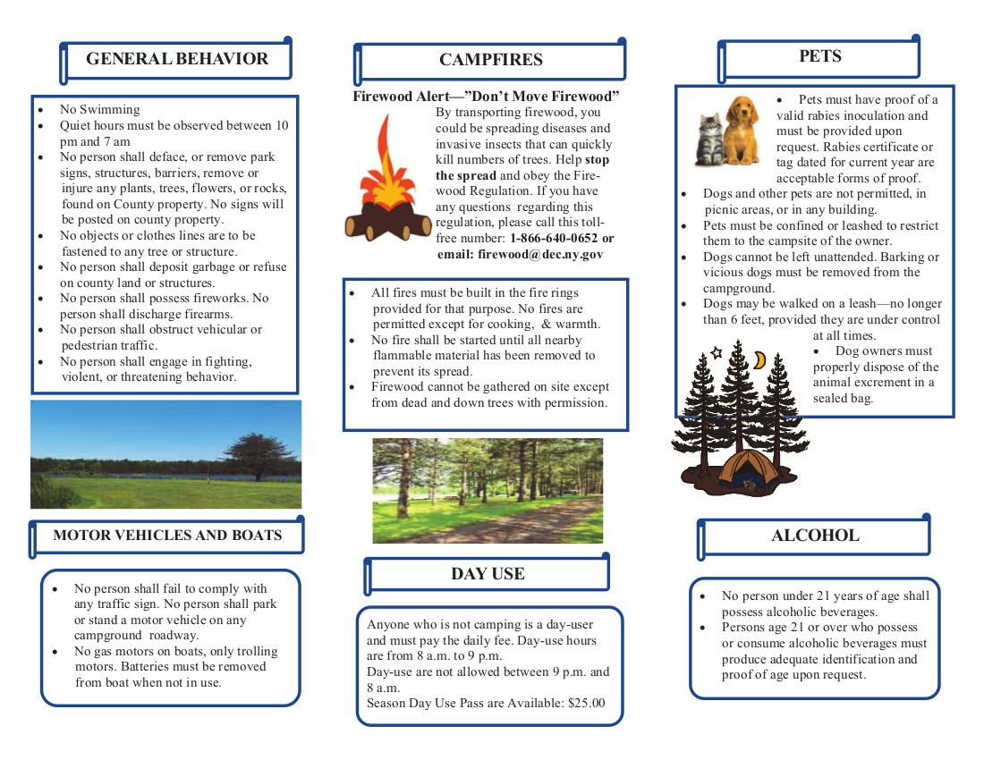 Cook Park Rules Brochure - Page 1